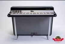 "1971 Fender Rhodes - Retro Rentals / One of the most sought-after years of Fender Rhodes production, the 1971 is the year of the famed Leeds model ""E"" Rhodes. An incredibly full, mid-range and treble tone comes from this immaculately restored suitcase piano with aggressive bark when you lay into it. The perfect piano when you need the presence of a Rhodes in a pop or rock recording, as well as the sound heard on early Fusion records… this is the Rhodes when you want to be heard."
