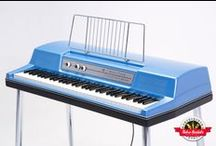 "Custom Wurlitzer 200 Variable Vibrato - Retro Rentals / This is the model used by Ray Charles on ""What'd I Say"" with a unique, early electric piano sound.  Vibrato was not even introduced yet, but is entirely unneeded from the unique sound of this instrument. It as not as polished and refined of an instrument as the 200 series being one of the first iterations of the Wurlitzer, but if you're looking for a very early soul sound, you'll be playing this ""til you feel all right."""
