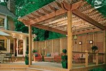 Cedar Pergolas / We've discovered some stunning cedar pergolas which would work well with a Cedarshed.com shed or gazebo in your yard.
