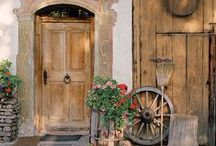 """Door to Door / A collection of doors that look inviting, quizzical, artistic, or of spectacular craftsmanship.  Wooden doors and carved red cedar are among our favorite.  Dare we say this board will make you, """"drool & dream""""?  Visit us at: cedarshed.com"""