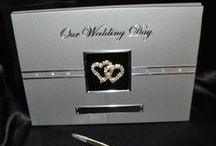 Wedding Guest Books & Pens / These treasured keepsakes are for recording the names of those who shared your special day, the gifts you received and the well wishes and blessings they bestowed upon you