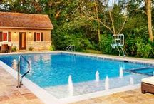 Inground Pools / Cedarshed.com provides examples of great backyard pools.