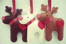 karácsonyi filc figurák
