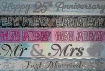 Party Banners / Wedding, Engagement, Anniversary, Birthday, Hen's Night, Christening Party Banners