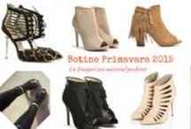 Botine PRIMAVARA / Botine Primavara-Vara 2015 Modele: cu franjuri, decupate sau cu material perforat.