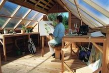 She Sheds / Woman Cave, She Shed, Lady Lair or whatever you choose to call your personal shed, here are ideas to inspire you.  Visit: Cedarshed.com for more.