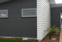 House exterior cladding and color ideas / Rooflines, external cladding, and color schemes