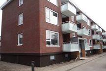 Hengelo, Projectplan Noord / Renovatie, 11 flats met in totaal 180 woningen: Engineering, levering en montage van 180 composieten balkons.