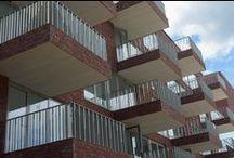 Hilversum, Villa Industria / Nieuwbouw, verankering van balkons en galerijen