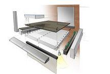 Onze visie visueel / Industrieel balkon van composiet; keuzes voor bewoners / apps als keuze-toevoegingen voor architect en bewoners / geschikt voor zowel binnen- als buitentoepassingen