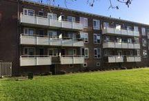 Leeuwarden, Valeriuskwartier / Renovatie, 6 flats met elk 24 woningen. Engeneering, levering en montage van staalconstructie t.b.v. vervangen balkons