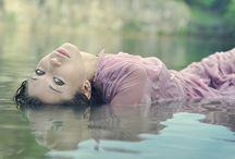 Drowning Dress / Dress in water, wetlook