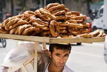 Street Food / hand-held treats and sweets served up on the streets of neighborhoods from around the world