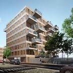Amsterdam, IJburg blok 54 / Nieuwbouw, verankering van balkons en galerijen