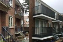 Hengelo, Klein Driene / Renovatie, 13 flats met in totaal 148 woningen: Engineering, levering en montage van 148 composieten balkons.
