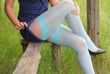 las medias de nylon sexy / Las medias mas sexys que se colocan las mujeres bellas y hermosas