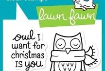 Lawn Fawn Winter Owl