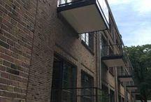 Eindhoven, Klooster Eikenburg / Transformatie, balkons als prefabunit geleverd