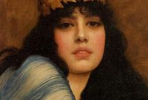 "Neo-Classicism of John William Godward / John William Godward (9 August 1861 – 13 December 1922) was an English painter from the end of the Pre-Raphaelite / Neo-Classicist era. He was a protégé of Sir Lawrence Alma-Tadema but his style of painting fell out of favour with the arrival of painters like Picasso. He committed suicide at the age of 61 and is said to have written in his suicide note that ""the world was not big enough"" for him and a Picasso."