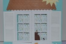Memory Box Window Die Cards & Door Scenes / Gorgeous Memory Die Box Window Card Art and Door Scenes Art