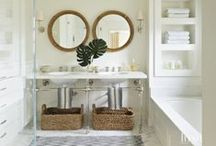 Luxe | Bath + Powder Rooms / Serene and tranquil bath and powder rooms. / by Luxe Interiors + Design Magazine
