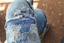 .INDIGO .BLUE .SASHIKO .BORO .SHIBORI / Jeans, Denim, Indigo Blue Details / by Basic Goods