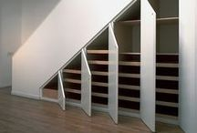 Under Stairs Storage / We'd like to open up the unused space under the stairs and create some usable storage with a small remodeling project. / by Claire Jain