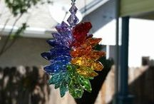 Krystal Kat's Shop Rainbow Suncatchers / Custom Made for YOU! Crystal Double Rainbow, Rainbow Suncatchers for Car or Home!!! These are beautiful handmade sun catchers made by me using Swarovski Crystals! Angel Suncatchers, Angel Baby, Angel Babies, Starburst, for Weddings, Baby Showers, Memorial Gifts, Mother's Day, Anniversaries, Birthday's, Birthstone, Hearts, Drops, Rainbow Clusters and More. www.krystalkats.com