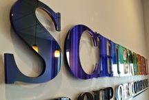 Custom Office Signs / Cut acrylic letters, logos, text. All custom designs.