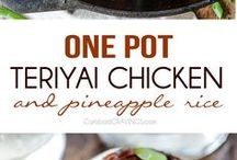 One Pot Wonders / Stay awake! Dinner will be done in a jiffy. For those days when all you can do is throw all the ingredients in a single pan, sit back and wait for dinner bell.  Even Martha does this...