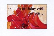 Birthday Cards / Birthday cards from my watercolor paintings. May be personalized.