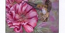 Blank Cards, Watercolors by Mickey Baxter-Spade. / #Beautiful flower greeting cards suitable for #framing, #gift giving or mailing. Original watercolor paintings by Mickey Baxter-Spade.
