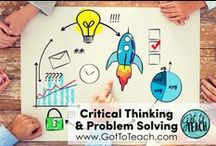 "Teaching Critical Thinking and Problem Solving / Please pin any lessons, products, blog posts that DIRECTLY SUPPORT teaching critical thinking or problem solving. People who are pinning items that are ""off topic"" will be removed from the board.  PLEASE READ RULES: 4 non-paid pin (blog posts, YouTube videos, etc.) for every 1 product pin.  All product pins need to have a $ sign in the description. In order to avoid duplicate pins, please delete previous pins before repining the same exact pin. THANK YOU!"