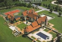 Elizabethan Tudor Style Manor / Tudor Style Mansion in Greenwhich, Connecticut. Built by Tallman Segerson Builder's.
