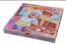 Prodotti Pizzerie / Produzione di scatole e contenitori porta pizza con stampa generica o personalizzata.