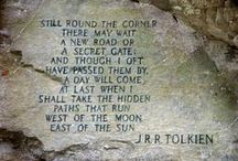 "~ ʈhe Tolkieη's world ~ / ""When reading the Hobbit, the Lord of the Rings or any other Tolkien book related to Middle-earth I always find quotes that contain great wisdom about life. You know, the kind you read again and again. "" — Emil Johansson"
