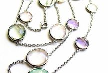 Necklaces / Gemstone, diamond, gold and silver necklaces