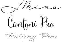 Font / Typographies, font...