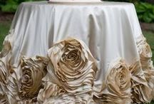Pretty Linen Inspirations / Ideas and inspiration for unique and beautiful table linens!