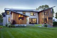 Westport Contemporary / This unique green energy home from architect Jonathan Wagner included a solar and geothermal system and contemporary interior. Built by Tallman Segerson Builders @ tallmansegerson.com and designed by Jonathan Wagner AIA.