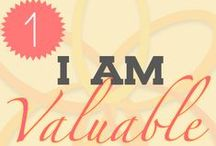 """I Am Valuable / MOM Resolution #1: I Am Valuable  ~ Often as mothers we forget our individual worth. We lose ourselves in our role as """"mom."""""""