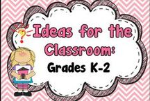Ideas for the Classroom - Grades K-2 / A place for teachers to get teaching ideas for lessons, projects, activities, and find some great TPT products (free & paid).   Pinners, please pin at least one non product-related teaching idea for each free or paid product that you pin here.