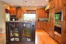 BEFORE & AFTER Kitchens / There is drama with remodeling but the finished kitchen is amazing.