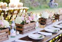 Table centre piece inspirations / Wedding table centrepieces