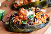 Stuffed Poblano Peppers / Serving up the best recipes for Stuffed Poblano Peppers on the planet!