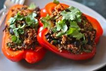 Quinoa Stuffed Peppers / Serving up the best Quinoa Stuffed Peppers on the planet!
