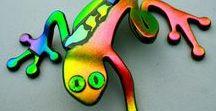 Fused glass creatures