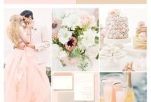 Champagne and blush colour schemes