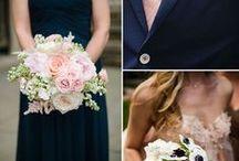 Navy and blue colour schemes / Wedding colour palettes
