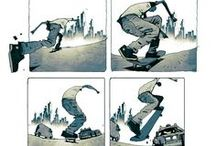 Character Pose | Skating & Surfing / Enjoy a selection of illustrations, sketches, model sheets and tutorials by various artists, collected by Character Design References™ and shown here for educational and inspirational purposes only. Every artwork remain the property of the respective © copyright holders, should inclusion of specific work offend any of you in some way, please contact us on → characterdesignreferences.com